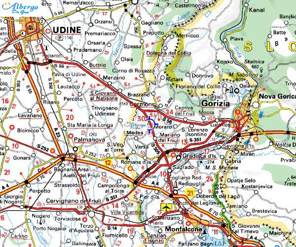 mappa Cormòns